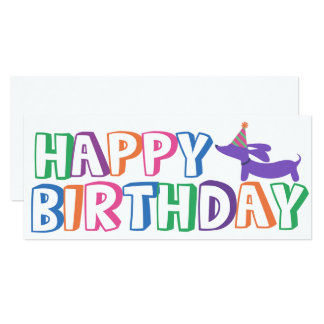 Carte de joyeux anniversaire de teckel longtemps