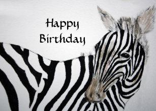 Carte Anniversaire Zebre.Cartes De Vœux Peinture Zebre Zazzle Be