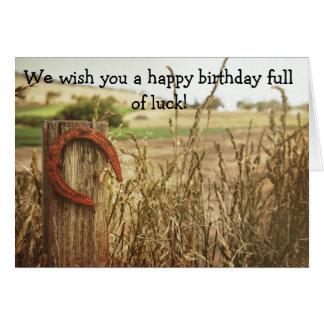 Carte de joyeux anniversaire pour la bonne chance