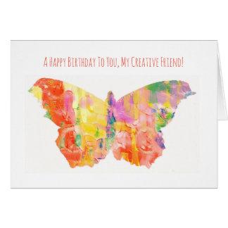 Carte de joyeux anniversaire pour l'ami créatif