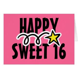 Carte de joyeux anniversaire pour le sweet sixteen