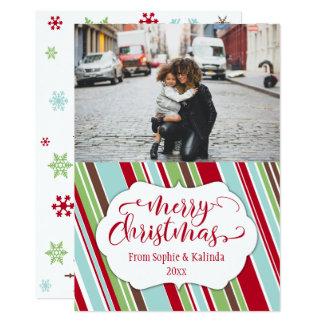 Carte de Joyeux Noël avec la palette de couleurs