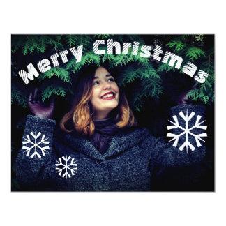 Carte de Joyeux Noël de photo de flocon de neige