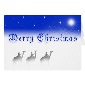 Carte de Joyeux Noël de trois sages
