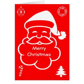 Carte de Joyeux Noël du père noël