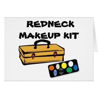 Carte de kit de maquillage de plouc