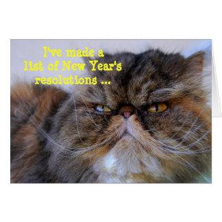Carte de Kitty de Persan de calicot des