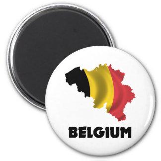 Carte de la Belgique Magnet Rond 8 Cm