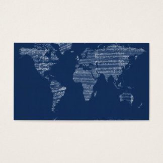 Carte de la carte du monde de la vieille musique