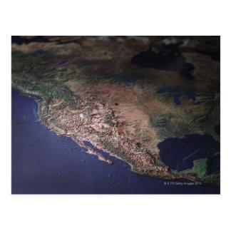 Carte de la côte ouest Etats-Unis