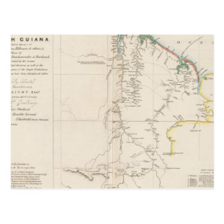Carte de la Guyane britannique