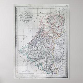 Carte de la Hollande 1835 - Malte-Brun