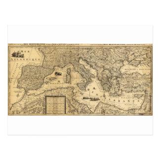 Carte de la mer Méditerranée par Guillaume Sanson
