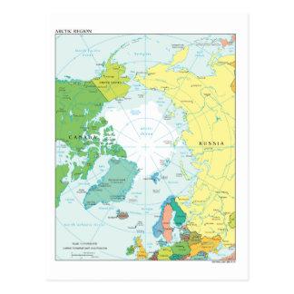 Carte de la région arctique