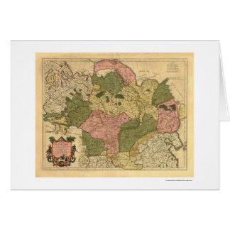 Carte de la Russie et de la Sibérie 1706