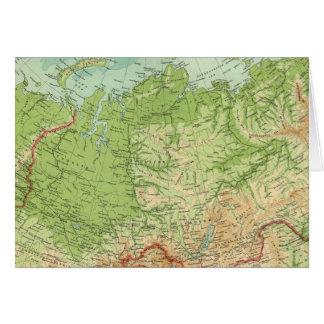 Carte de la Sibérie avec des itinéraires