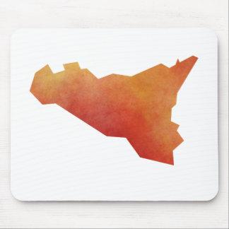 Carte de la Sicile Tapis De Souris