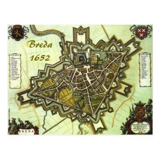 Carte de la ville de Breda, à partir de 1652