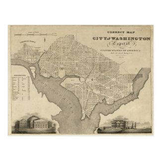 Carte de la ville de DC de Washington (1820)