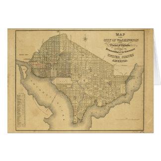 Carte de la ville de DC de Washington (1839)
