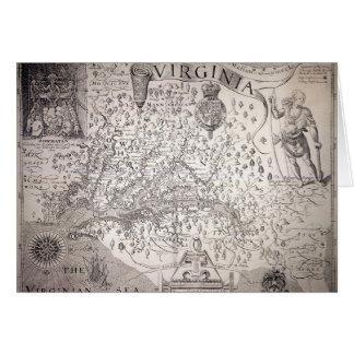 Carte de la Virginie, 1612