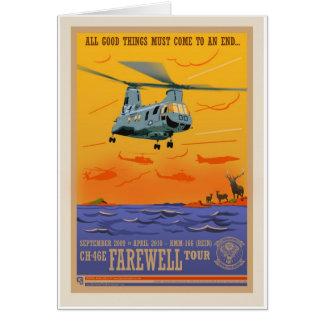 Carte de l'adieu CH-46