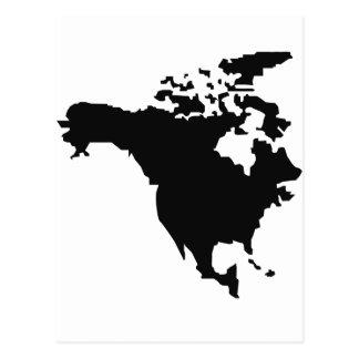 carte de l'Amérique du Nord