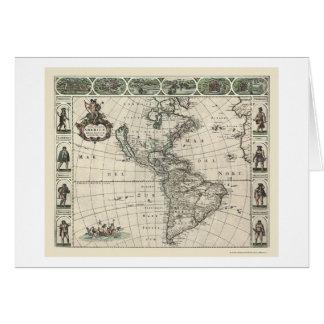 Carte de l'Amérique par Frederick de Wit 1660