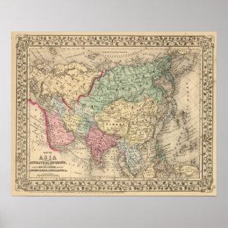 Carte de l'Asie par Mitchell