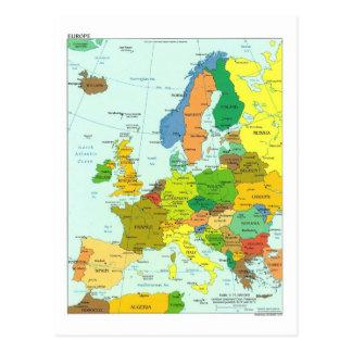 Carte de l'Europe Carte Postale