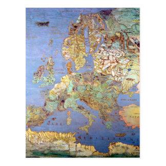 Carte de l'Europe du 16ème siècle