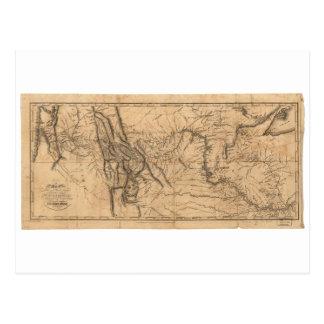 Carte de Lewis et de Clark à travers l'Amérique