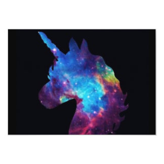 Carte de licorne de galaxie