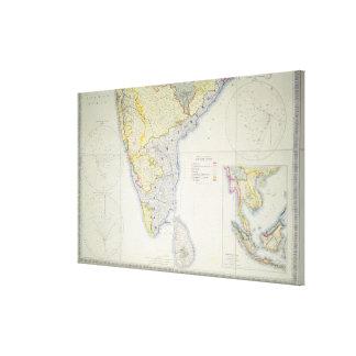 Carte de l'Inde du sud britannique, 1872 Toiles