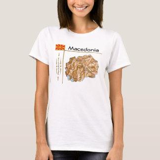 Carte de Macédoine + Drapeau + T-shirt de titre
