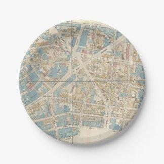 Carte de Manhattan Assiettes En Papier