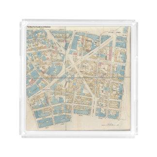 Carte de Manhattan Plateau En Acrylique
