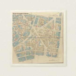 Carte de Manhattan Serviettes En Papier