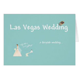 Carte de mariage de conte de fées de Las Vegas