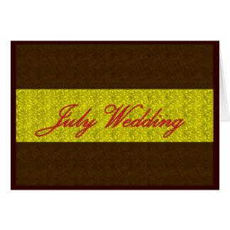 """Carte """"de mariage de juillet"""" - personnalisable"""
