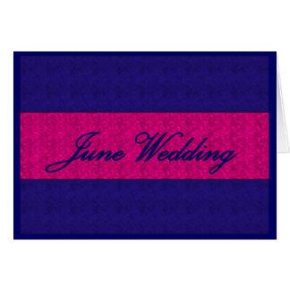 "Carte ""de mariage de juin"" - personnalisable"