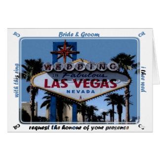 Carte de mariage de Las Vegas de jeune mariée et