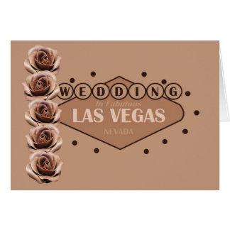 Carte de mariage de roses de chocolat de Las Vegas