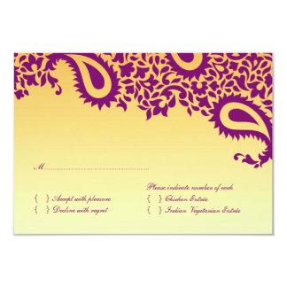 Carte de mariage de RSVP avec l'option de Carton D'invitation 8,89 Cm X 12,70 Cm