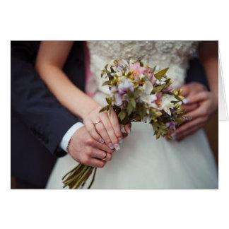 Carte de mariage - félicitations classiques