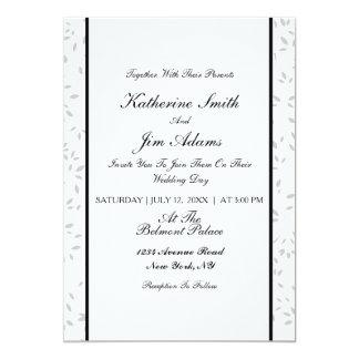 Carte de mariage florale élégante simple