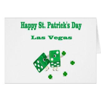 Carte de matrices de vert de Las Vegas du jour de