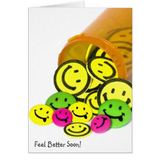 Carte De meilleures pilules bientôt heureuses de visage