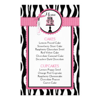 Carte de menu de boulangerie d'impression et de prospectus 14 cm x 21,6 cm