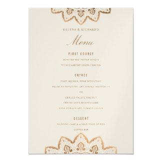 Carte de menu de mariage de miroitement de carton d'invitation  12,7 cm x 17,78 cm